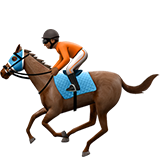 конные скачки (темно-коричневый тон)