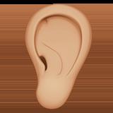 ухо (светло-коричневый тон)