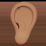 ухо (оливковый тон)