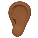 ухо (темно-коричневый тон)