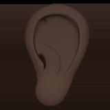 ухо (черный тон)