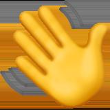 Машет рукой