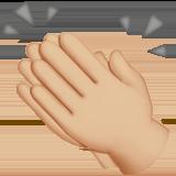 хлопанье в ладоши (светло-коричневый тон)