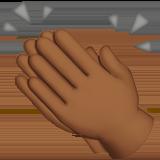 хлопанье в ладоши (темно-коричневый тон)