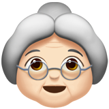 бабушка (светлый тон)