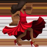 танцующая женщина (темно-коричневый тон)