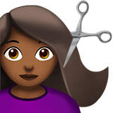 парикмахер (темно-коричневый тон)
