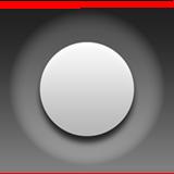 Белый маленький круг в большом чёрном