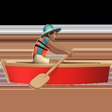 вёсельная лодка (оливковый тон)