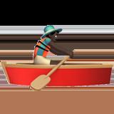 вёсельная лодка (черный тон)