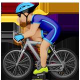 велосипедист (светло-коричневый тон)