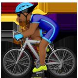 велосипедист (темно-коричневый тон)