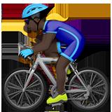 велосипедист (черный тон)