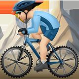 горный велосипедист (светлый тон)