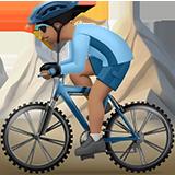 горный велосипедист (оливковый тон)