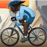 горный велосипедист (черный тон)