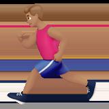 человек бежит (оливковый тон)