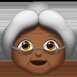 бабушка (темно-коричневый тон)