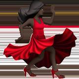 танцующая женщина (черный тон)
