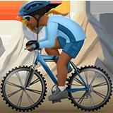 горный велосипедист (темно-коричневый тон)